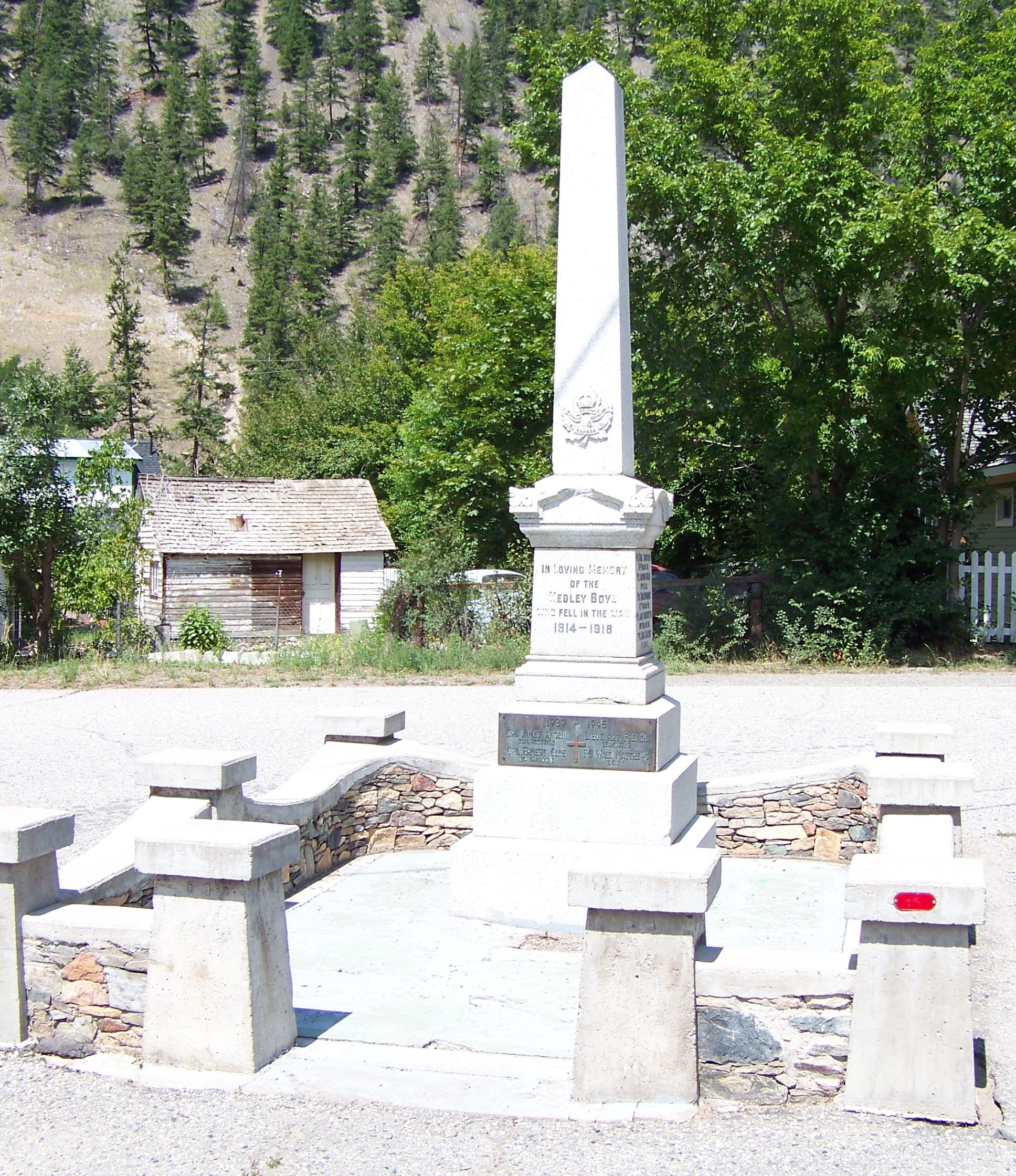 Mémorial – Hedley, Colombie-Britannique