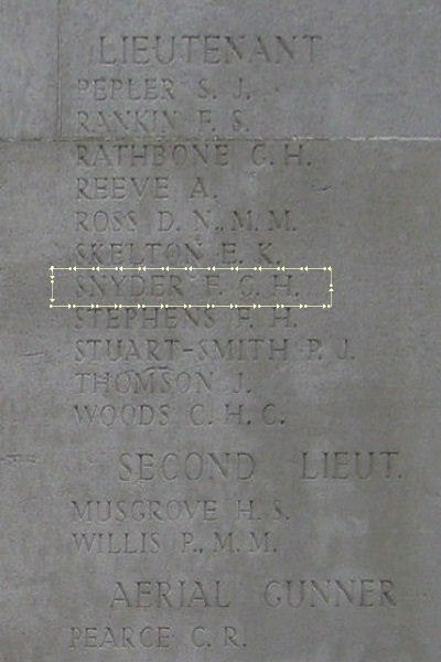 Inscription– Inscription - Arras Flying Services Memorial … photo courtesy of Marg Liessens