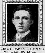 Photo of James Hartney– From: The Varsity Magazine Supplement published by The Students Administrative Council, University of Toronto 1918.   Submitted for the Soldiers' Tower Committee, University of Toronto, by Operation Picture Me.