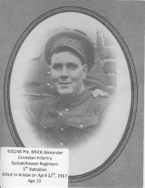 Photo of Alexander Brick– 925248 PTE BRICK Alexander