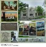 """Oshawa War Memorial– The Oshawa Ontario War Memorial (1924) was named """"The Garden of the Unforgotten"""". This elaborate memorial was set with stones from each Great War Allied Nation and from the battlefields where Canadians fought. A pair of electric torches were to remain burning, and a copper time capsule box with artifacts from 1924 was buried under the memorial. In 2002, the Memorial Park was redeveloped and today the park incorporates beautiful gardens. A plaque explaining the redevelopment states: """"Memorial Park is regarded as hallowed ground for quiet meditation, the enjoyment of music, and especially for honouring our men and women who served in armed conflicts""""."""