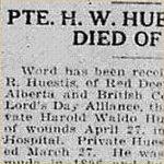 Coupure de presse – source: Morning Bulletin (Edmonton); 5 mai 1917, page 3