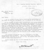 Letter– Letter details of his death