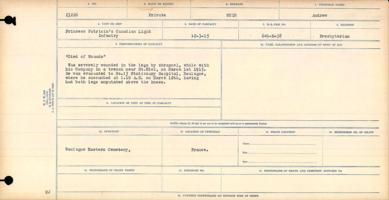 Circumstances of death registers– Private Andrew Muir