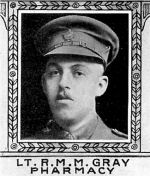 Photo of Robert Gray– From: The Varsity Magazine Supplement Fourth Edition 1918 published by The Students Administrative Council, University of Toronto.   Submitted for the Soldiers' Tower Committee, University of Toronto, by Operation Picture Me.