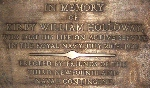 Plaque– Plaque found in the St. Andrew's Anglican Church, Brooklyn, Newfoundland.