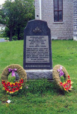 Memorial– A marble memorial at Tyendinaga Mohawk Territory in RR 1 Deseronto, ON was erected by the Kan-Yen-Cen League. This memorial is dedicated to the memory of the local war dead of the Second World War.