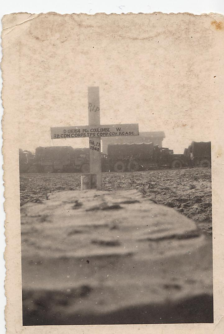 Temporary Grave Marker– Picture of his cross