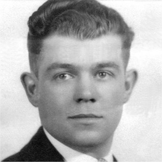 Photo of Ronald Taylor– Portrait of Ronald Taylor, taken in Kingston before enlisting in the Artillery.