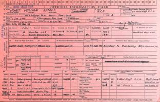 Officer's Information Card– Submitted for the project, Operation Picture Me