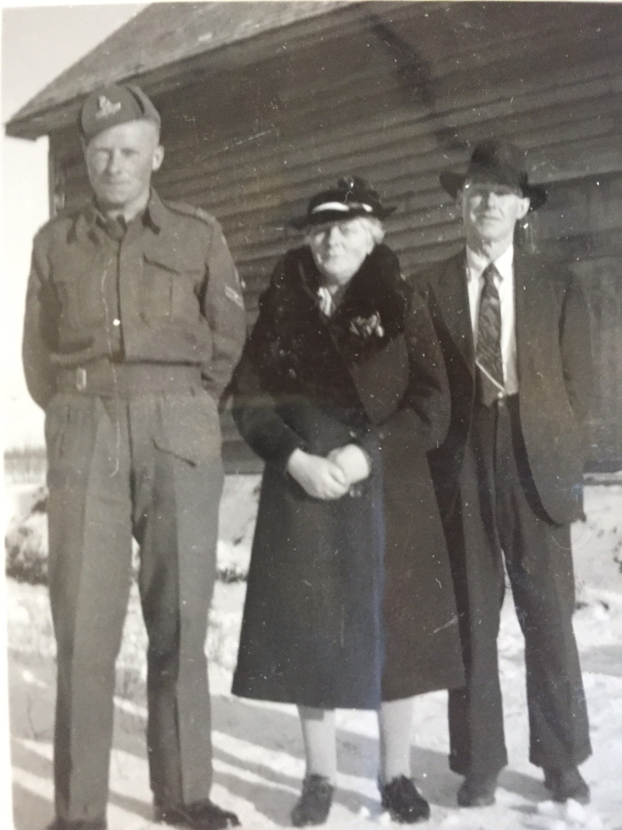 Family Photo– Billy in Alberta prior to going overseas date unknown