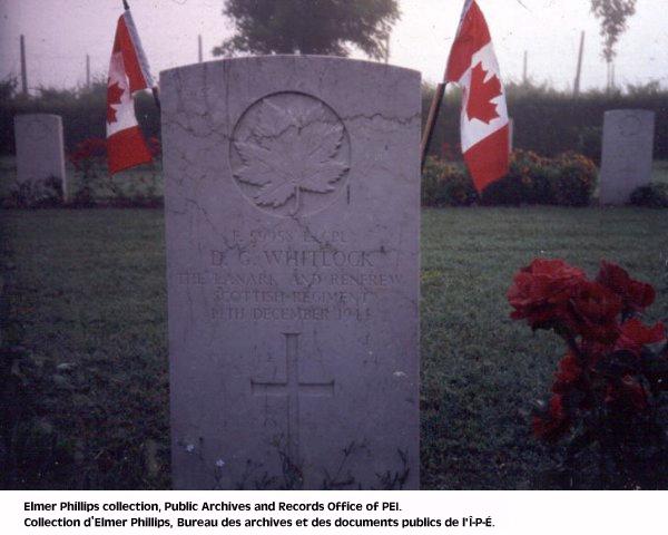 Stèle funéraire de D.G. Whitlock