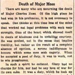 Newspaper Clipping 3– Toronto Star Editorial dedicated to Major Charles A. Moss from the October 26th, 1916 edition.