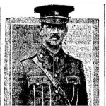 Photo 3 of Charles Alexander Moss– Photograph of Major Charles Alexander Moss accompanying a lengthy tribute in the Toronto Star's October 25th, 1916 edition.  The death of Major Moss was deeply felt in the city of Toronto.