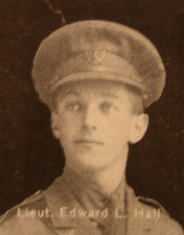 Photo of Edward Hall– In memory of the men and women from the Waterloo area who went to war and did not come home. From the booklet, Peace Souvenir – Activities of Waterloo County in the Great War 1914 – 1918. From the Toronto Public Library collection.  Submitted for the project, Operation: Picture Me.