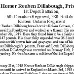 Biographie - page 1 – Biographie fournie gracieusement par le Smith Falls District Collegiate  suite à l¿initiative commémorative « Lest We Forget ».