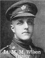 Photo of Matthew Wilson– From: The Varsity Magazine Supplement published by The Students Administrative Council, University of Toronto 1916.   Submitted for the Soldiers' Tower Committee, University of Toronto, by Operation Picture Me.