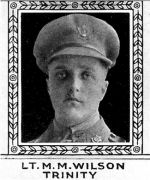 Photo of Matthew Wilson– From: The Varsity Magazine Supplement Fourth Edition 1918 published by The Students Administrative Council, University of Toronto.   Submitted for the Soldiers' Tower Committee, University of Toronto, by Operation Picture Me.