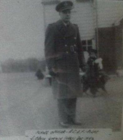Photo of Joseph Erwin Godwin– Picture taken in his uniform by family