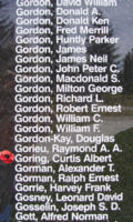 Memorial– Warrant Officer Class I Curtis Albert Goring is also commemorated on the Bomber Command Memorial Wall in Nanton, AB … photo courtesy of Marg Liessens