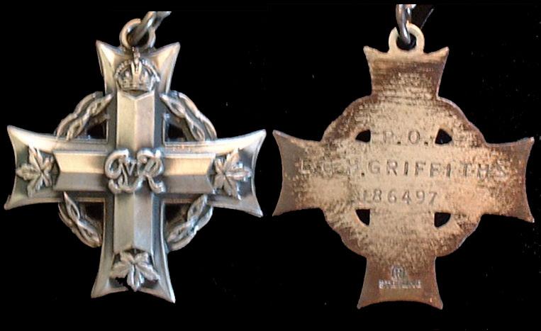 Medal– Memorial cross of P/O Griffiths
