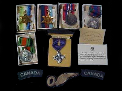 Medals– Medals and Mother's Cross of Pilot Officer Lewis Griffiths