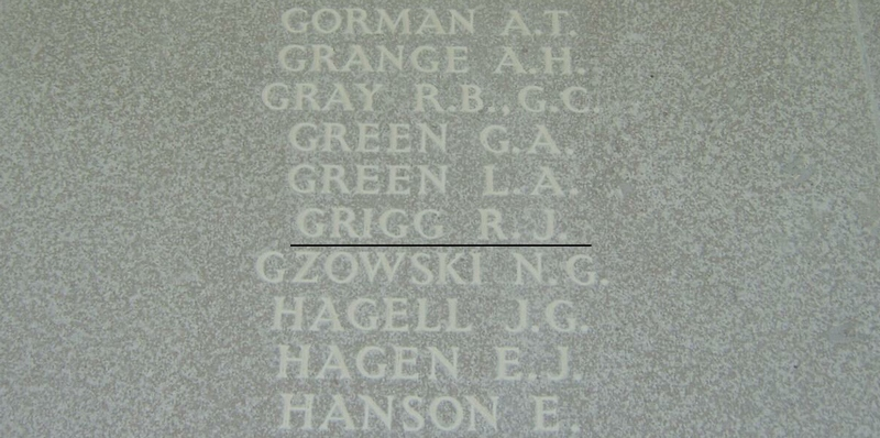 Inscription– Panel 246 of Runnymede Memorial. Photo provided by Padre Phil Miller, Branch 25, Royal Canadian Legion, Sault Ste. Marie, ON. We Will Remember Them.