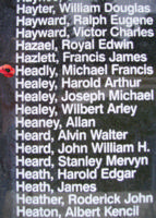 Memorial– Pilot Officer Michael Francis Headly is also commemorated on the Bomber Command Memorial Wall in Nanton, AB … photo courtesy of Marg Liessens