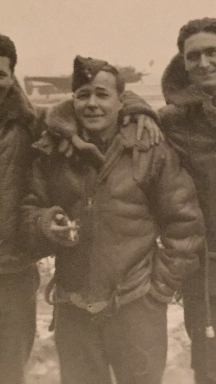 "Photo of Arthur Reginald Henman– ""Reggie"" Henman RCAF of Sudbury, ON. From photo belonging to FLt. Richard Norwood Speer, RCAF."