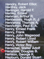 Memorial– Sergeant Douglas Bernard Henshaw is also commemorated on the Bomber Command Memorial Wall in Nanton, AB … photo courtesy of Marg Liessens