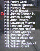 Memorial– Flight Sergeant James Benona Harvey Hill is also commemorated on the Bomber Command Memorial Wall in Nanton, AB … photo courtesy of Marg Liessens