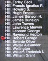 Memorial– Pilot Officer Robert George Hill is also commemorated on the Bomber Command Memorial Wall in Nanton, AB … photo courtesy of Marg Liessens