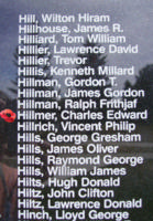 Memorial– Flight Sergeant Charles Edward Hillmer is also commemorated on the Bomber Command Memorial Wall in Nanton, AB … photo courtesy of Marg Liessens