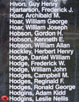 Memorial– Flight Sergeant Leslie Nellis Hodgins is also commemorated on the Bomber Command Memorial Wall in Nanton, AB … photo courtesy of Marg Liessens