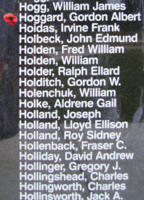 Memorial– Flying Officer Gordon Albert Hoggard is also commemorated on the Bomber Command Memorial Wall in Nanton, AB … photo courtesy of Marg Liessens