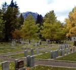 Cemetery– View of Banff Cemetery, Banff, Alberta.