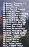 Memorial– Warrant Officer Class I Frank Alex Holmes is also commemorated on the Bomber Command Memorial Wall in Nanton, AB … photo courtesy of Marg Liessens