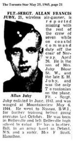 Newspaper Clipping– Newspaper Clipping from The Toronto Star May 25, 1945, page 21.