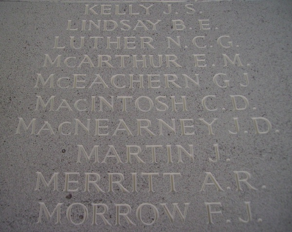 Memorial– Inscription - Runnymede Memorial - September 2010 … photo courtesy of Marg Liessens