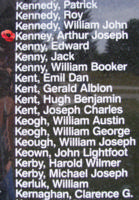 Memorial– Flight Sergeant Arthur Joseph Kenny as commemorated on the Bomber Command Memorial Wall in Nanton, AB … photo courtesy of Marg Liessens