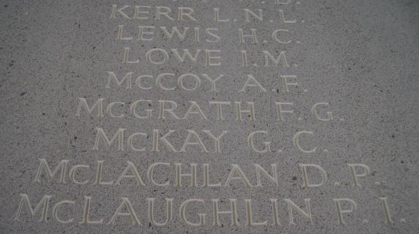 Photo of LOUIS NOEL LYNDON KERR– Inscription - Runnymede Memorial - September 2010 … photo courtesy of Marg Liessens