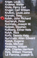 Memorial– Pilot Officer John Richard Kubin is also commemorated on the Bomber Command Memorial Wall in Nanton, AB … photo courtesy of Marg Liessens