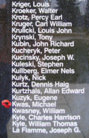 Memorial– Pilot Officer Michael Kwas is also commemorated on the Bomber Command Memorial Wall in Nanton, AB … photo courtesy of Marg Liessens