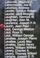Memorial– Flying Officer Jean Paul Laurin is also commemorated on the Bomber Command Memorial Wall in Nanton, AB … photo courtesy of Marg Liessens