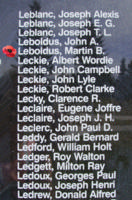 Memorial– Sergeant Martin Benedict Leboldus is also commemorated on the Bomber Command Memorial Wall in Nanton, AB … photo courtesy of Marg Liessens