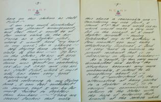 Letter– Pages 3 and 4 of letter written by Park in October 1942, LAC, Ottawa