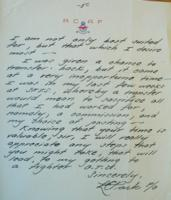 Letter– Pages 5 of letter written by Park in October 1942, LAC, Ottawa