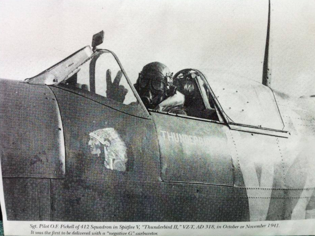 Newspaper Clipping– Flying his Spitfire