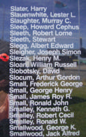 Memorial– Flight Sergeant Henry Maximilian Slezak is commemorated on the Bomber Command Memorial Wall in Nanton, AB … photo courtesy of Marg Liessens