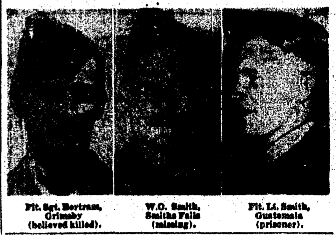 Newspaper Clipping– Middle Photo. Memorialized on the pages of the Globe and Mail. Submitted for the project, Operation Picture Me